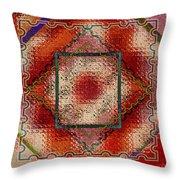 Quilt Block Transformed Throw Pillow