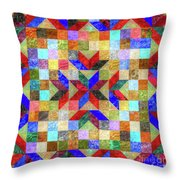 Quilt Pattern No. 1 Throw Pillow
