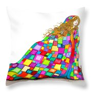 Quilted Dreams Throw Pillow