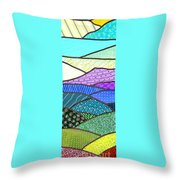 Quilted Mountain Throw Pillow