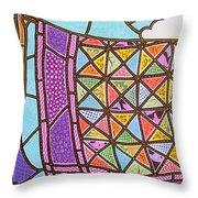 Quilts Online Throw Pillow