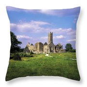 Quin Abbey, Quin, Co Clare, Ireland Throw Pillow by The Irish Image Collection