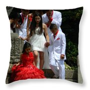 People Series - Quinceanera Ceremony  Throw Pillow