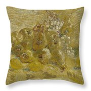 Quinces, Lemons Pears And Grapes Paris, September - October 1887 Vincent Van Gogh 1853  1890 Throw Pillow