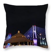 Quincy Bay View At Night Throw Pillow