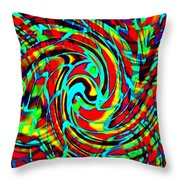 Quintet For Coloured Paint. H A Throw Pillow