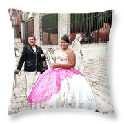 Quinze Anos In San Miguel Throw Pillow