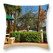 Quite Corner In Weston Florida Throw Pillow