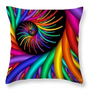 Quite Different Colors -20- Throw Pillow