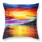 Quite Harbor Throw Pillow