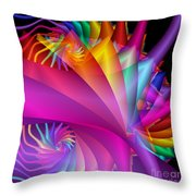 Quite In Different Colors -1- Throw Pillow