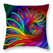 Quite In Different Colors -7- Throw Pillow