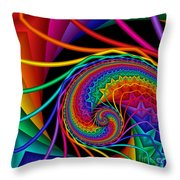 Quite In Different Colors -9- Throw Pillow