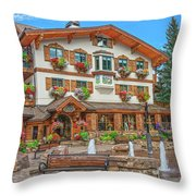 Quite Possibly The Most Expensive And Luxurious Ski Resort In The World, Vail, Colorado  Throw Pillow