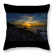 Quoddy Head State Park Sunrise Panorama Throw Pillow