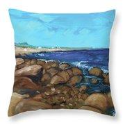 Quonocontaug West Beach Throw Pillow