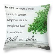 Quote From Martin Luther Throw Pillow