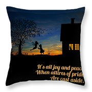 Quote2 Throw Pillow