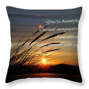 Quote5 Throw Pillow