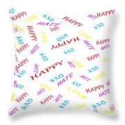 Quoted Emotions Throw Pillow