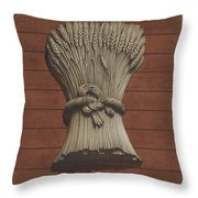 """""""sheaf Of Wheat"""" Shop Sign Throw Pillow"""