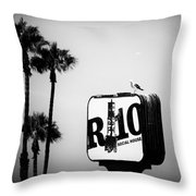 R-10 Social House Throw Pillow by Michael Hope