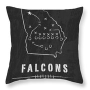 Atlanta Falcons Art - Nfl Football Wall Print Throw Pillow by Damon Gray