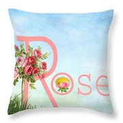 R For Rose Throw Pillow