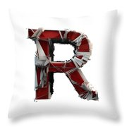 R Is Rock N Roll Throw Pillow