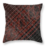 R-n W B  -  Red Netwireblast Throw Pillow