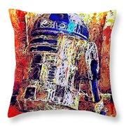 R2 - D2 Throw Pillow by Al Matra