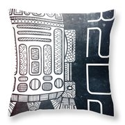R2d2 - Star Wars Art - Space Throw Pillow