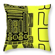 R2d2 - Star Wars Art - Yellow Throw Pillow
