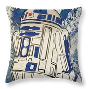 R2d2'd Throw Pillow