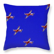 Raaf Roullettes Flying Across North Head Sydney Throw Pillow