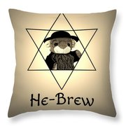 Rabbi T's He-brew Throw Pillow