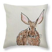 Rabbit 4 Throw Pillow