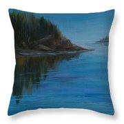 Rabbit Blanket Lake Throw Pillow