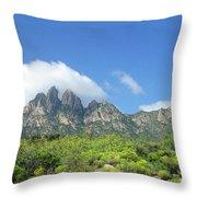 Organ Mountains Rabbit Ears Throw Pillow