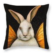 Rabbit Fairy Throw Pillow