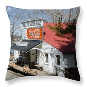 Rabbit Hash Store-front View Angle Throw Pillow
