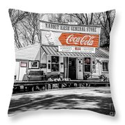 Rabbit Hash Store-front View Sc Throw Pillow