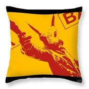 Rabbit Heist Throw Pillow