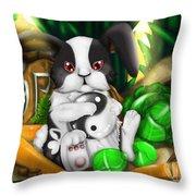 Rabbit In Chinese Zodiac Throw Pillow