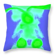 Rabbit 7 Throw Pillow