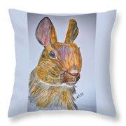 Rabbit Watercolor 15-01 Throw Pillow