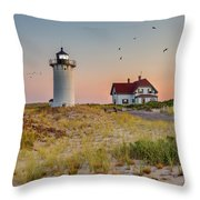 Race Point Light Cape Cod Square Throw Pillow