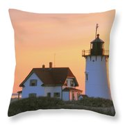 Race Point Light Throw Pillow by Roupen  Baker