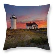 Race Point Light Sunset 2015 Throw Pillow