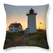 Race Point Lighthouse 2015 Throw Pillow